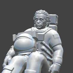 c40f22d7-fc88-47e3-ac49-462475dada11.jpg Download STL file Albert Einstein astronaut • 3D print template, gothamstorecol