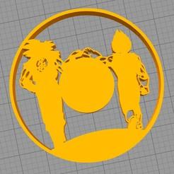 reloj dragon ball.jpg Download STL file Silueta dragon ball para decoración o reloj • 3D printer design, gothamstorecol