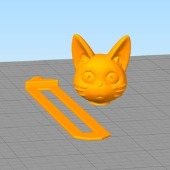 separador4.jpg Télécharger fichier STL Signet du chat Jiji • Plan pour imprimante 3D, gothamstorecol