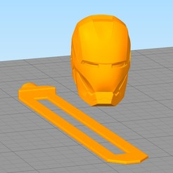 Download free 3D printing templates Iron Man Bookmark, gothamstorecol