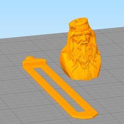 separador14.jpg Download STL file Dumbledore bookmark • 3D printable template, gothamstorecol