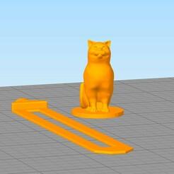 separador33.jpg Download free STL file Cat Bookmark • Template to 3D print, gothamstorecol