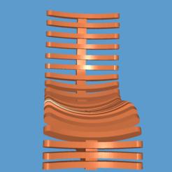 Download free 3D printer templates Chair, zedeye101