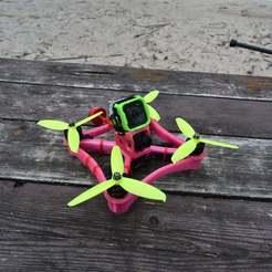 DSC_6751.JPG Download free STL file TPU FPV Drone Frame - Indestructible • 3D printable object, gvaskovsky