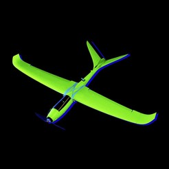 Untitled-1.jpg Download STL file RC V-Tail Airplane Hotliner • Object to 3D print, gvaskovsky