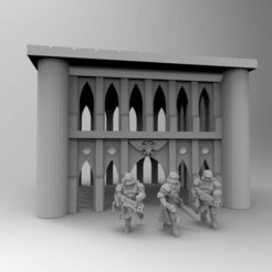 Download free STL files Gothic Imperial Building 28mm 02, Mazer