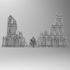 Download free 3D printer templates Gothic Basilica Warhammer Ruins and Terrain 28mm, Mazer