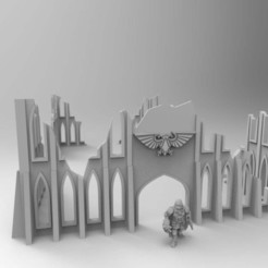 Download free 3D printing templates Large Imperium Warhammer Ruins 28mm, Mazer
