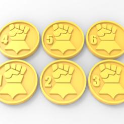 Descargar STL gratis Marcadores objetivos de los puños imperiales, Mazer