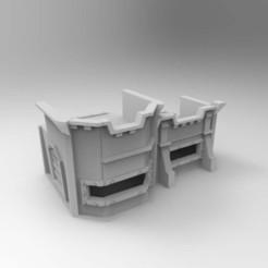 Descargar modelos 3D gratis 40k Paredes del búnker de Mártir Remezclado, Mazer
