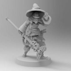 Imprimir en 3D gratis Mago de la Guardia Imperial, Mazer