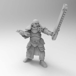 Impresiones 3D gratis Ministorum Priest Proxy Warrior Priest with Chainsword, Mazer