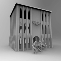 Download free 3D printer files Gothic Imperial Building 28mm 03, Mazer