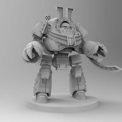 e1eb05e10c28269cd5b60559ce1bf25a_display_large.jpg Download free STL file 1KSons Demon Prince Contemptor Dread with Wings/Jet Pack • 3D printing design, Mazer