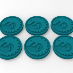 Descargar Modelos 3D para imprimir gratis Marcadores de objetivos de Genestealer Cults, Mazer