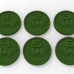Descargar STL gratis Marcadores de objetivos de la Guardia Imperial, Mazer