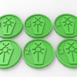 Descargar diseños 3D gratis Necrons Marcadores de objetivos, Mazer