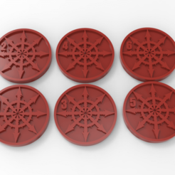 untitled.17.png Download free STL file Slaves to Darkness Chaos Space Marines Objective Markers • 3D printable template, Mazer
