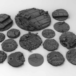 Download free STL file War Gaming Base Toppers • 3D printing object, Mazer