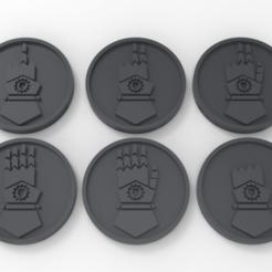 untitled.38.png Télécharger fichier STL gratuit Marqueurs d'objectifs de Iron Hands Counting Hands • Objet pour imprimante 3D, Mazer