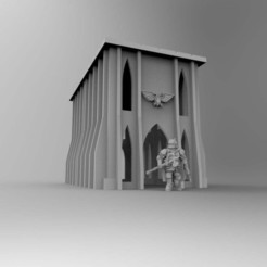 f2fd596c8093a61bd9c5c932e7a1c554_display_large.jpg Download free STL file Gothic Imperial Building 01 • 3D printing template, Mazer