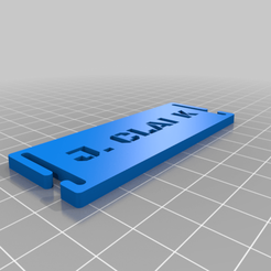 Imprimir en 3D gratis J. La etiqueta de nombre de Clark Molle., Karkinos