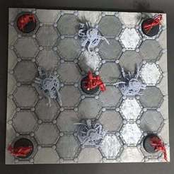 2.jpg Download free STL file Combat Arena Game Board Tiles • 3D printing template, Karkinos