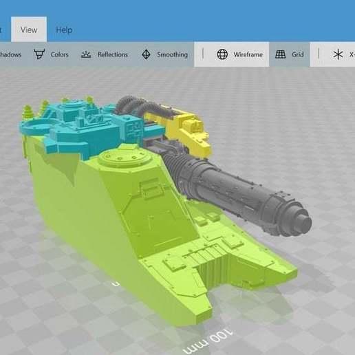 """Descargar modelo 3D gratis Tanque de crucero pesado """"Dolofónos"""" Venator remix, Karkinos"""