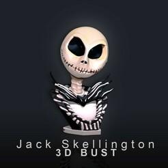 Jack Skellington.jpg Download free STL file Jack Skellington 3D Bust • 3D printable design, phoenixFPV