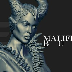 01.jpg Download STL file MALEFICENT BUST (MALEFICENT) • Object to 3D print, phoenixFPV