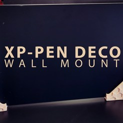 1.jpg Télécharger fichier STL XP PEN DECO Tablet Wall Mount • Design pour imprimante 3D, phoenixFPV