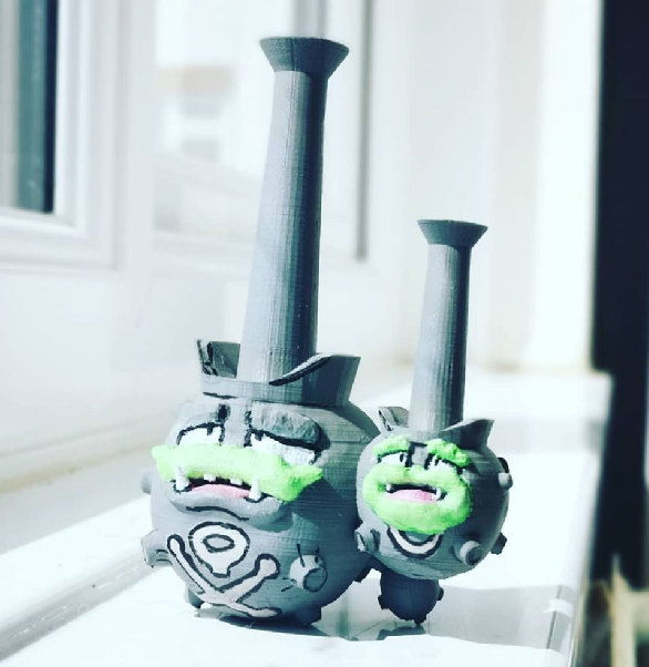 Weezing_Galarian_Form.png Download free STL file Galarian Weezing • 3D print model, Fanboydungeon3D