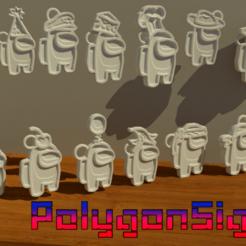Download STL file Among us 45 figures pack .45 models pack ! • 3D printer design, polygoneyes