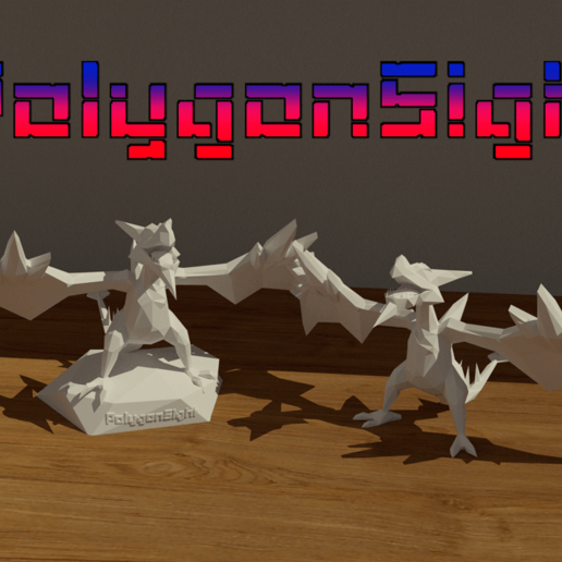 Descargar STL AerodactylMega lowpoly model (Pokemon), polygoneyes