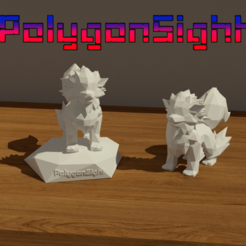 Arcaine a2.png Download OBJ file arcanine lowpoly (Pokemon) • 3D printing object, polygoneyes