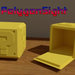 Caja sorpresa m.png Download OBJ file Mario Mistery box and flowerpot • 3D printer template, polygoneyes