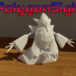 AlakazamMega 1.png Download OBJ file Alakazam Mega wisdom pose (Pokemon) • 3D printer object, polygoneyes