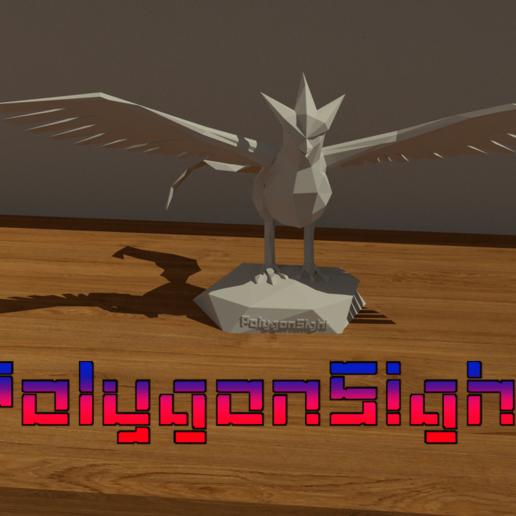 Download OBJ File Articuno Lowpoly (Pokemon) • 3D Printer