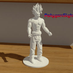gokuuu.png Télécharger fichier OBJ Goku Ssj 2 lowpoly • Objet imprimable en 3D, polygoneyes