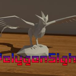 Articunoa.png Download OBJ file Articuno lowpoly (Pokemon) • 3D printer model, polygoneyes