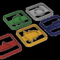 cortantes redes.png Télécharger fichier STL Couper les cookies des réseaux sociaux (à l'emporte-pièce) • Design à imprimer en 3D, arielgastia