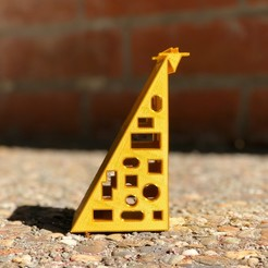 Download free 3D printing templates GIRAFFE, NIZU