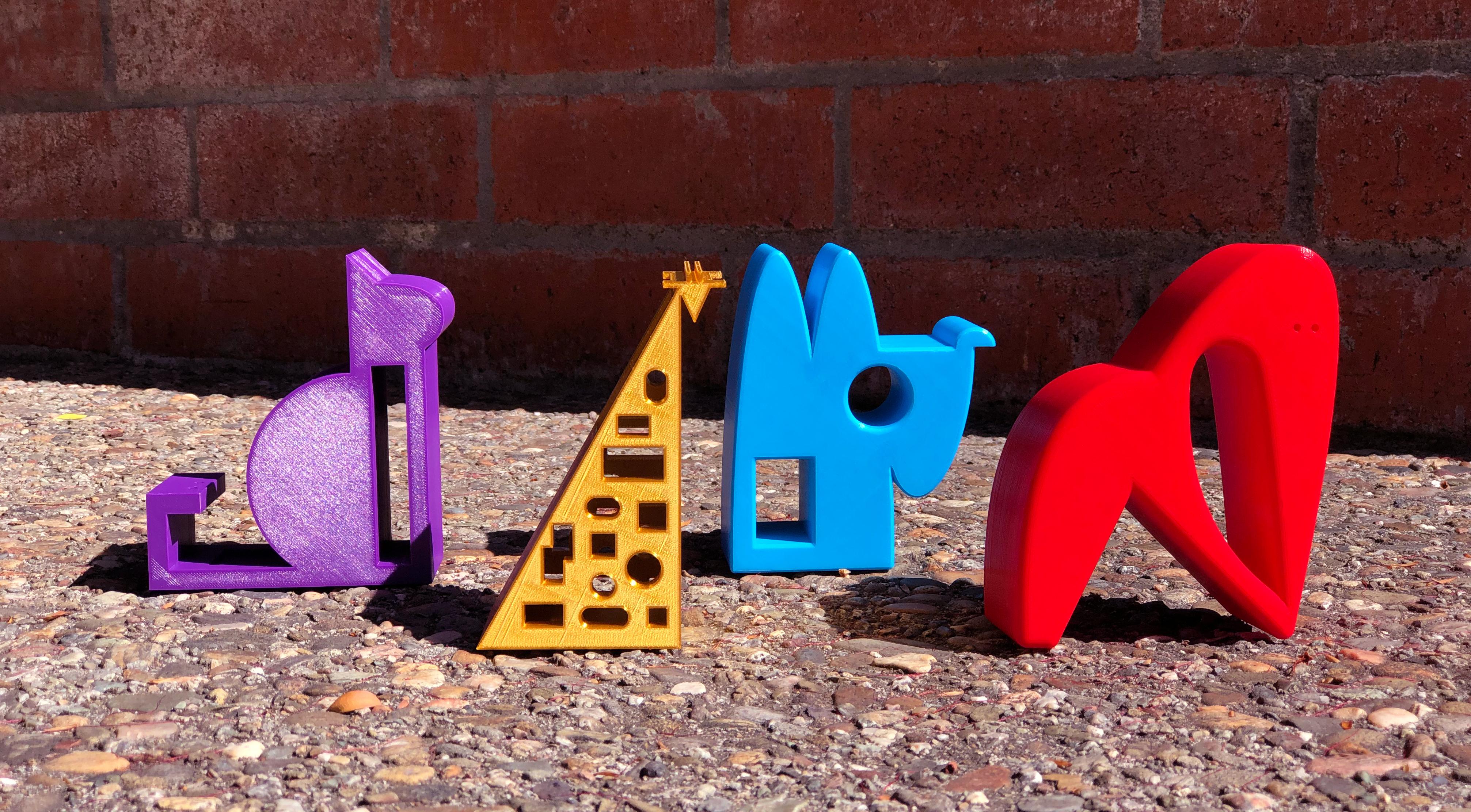 1_Animals_all.jpg Télécharger fichier STL gratuit GORILLE • Objet imprimable en 3D, NIZU