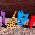 Download free 3D printing templates GIRAFFE, NIZU