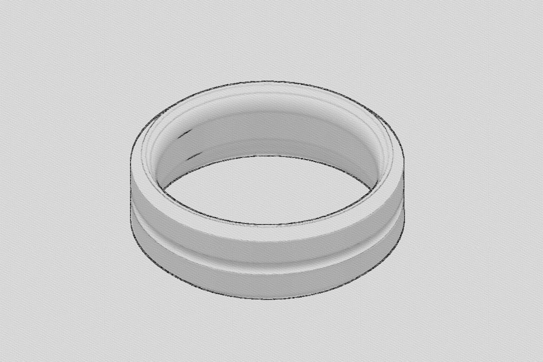 Screenshot (284).png Download free STL file   Basic Mens Ring • 3D printable template, TarFox