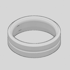 Download free 3D printing designs   Basic Mens Ring, TarFox