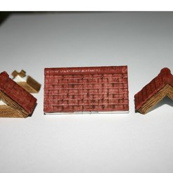 Download free 3D printer model Openlock Tudor Tiled Roof - Set 2, Alonicus