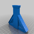 Download free 3D printer files OpenLock Tudor Tiled Roof - Set 3 - Chimney Stacks, Alonicus