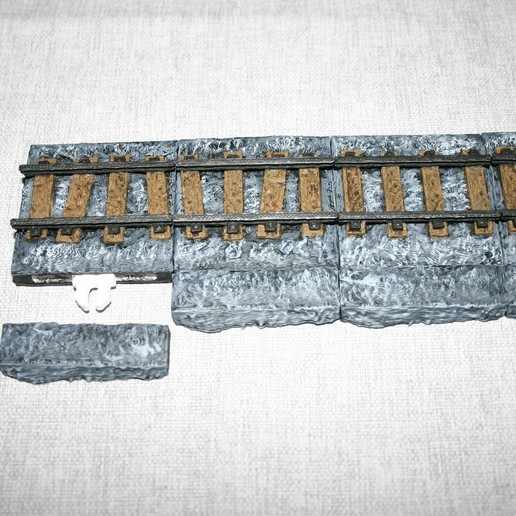 Download free STL file 28mm Dungeon Mine Railway Edge with OpenLock • 3D print template, Alonicus