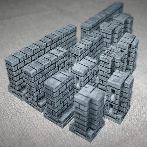 Download free 3D print files OpenLOCK Cut Stone S Walls, Alonicus